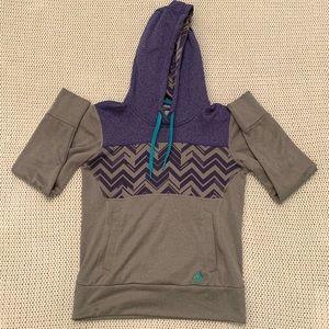 Adidas Ultimate Hoodie Purple/Gray Chevron Size S